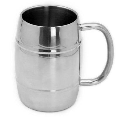Drum Style Stainless Steel Coffee Mug 300ml