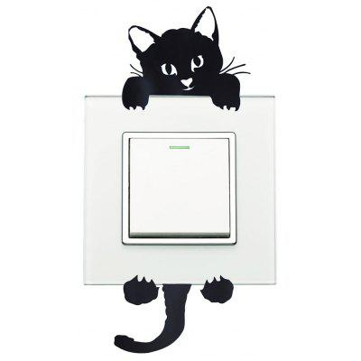 Black Cat Light Switch Wall Sticker