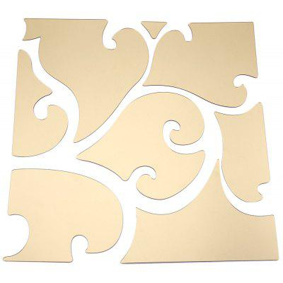 32pcs 3D Mirror Wall Stickers