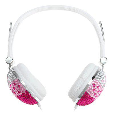 Artificial Crystal Rhinestone Bling Over-ear Studio Headphones