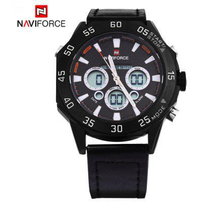 Naviforce 9043 Men Quartz Watch LED Wristwatch