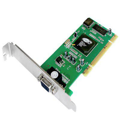 VC1801 Graphics Card 8M SDRAMGraphics &amp; Video Cards<br>VC1801 Graphics Card 8M SDRAM<br><br>Brand: Apple<br>Core Frequency: 100MHz<br>Interface: VGA<br>Material: Metal<br>Package size: 16.00 x 12.00 x 3.50 cm / 6.30 x 4.72 x 1.38 inches<br>Package weight: 0.085 kg<br>Packing List: 1 x VC1801 Graphics Card<br>Product size: 14.00 x 12.00 x 2.00 cm / 5.51 x 4.72 x 0.79 inches<br>Product weight: 0.053 kg<br>Supports System: Win 2000, Win7 32, Win XP, Win vista, Win 2008<br>Video Memory Bit Wide: 32 Bit<br>Video Memory Frequency: 150MHz