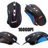Spotlight Leopard T7 Wired USB LOL Gaming Mouse - BLACK