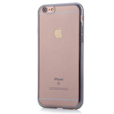Back Case for iPhone 6 / 6S TPU Material Transparent Electroplated Frame
