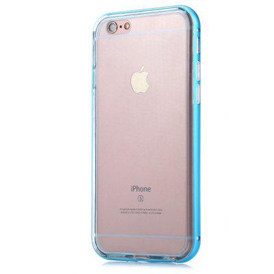 Back Case for iPhone 6 / 6S TPU Material Transparent Metal Frame
