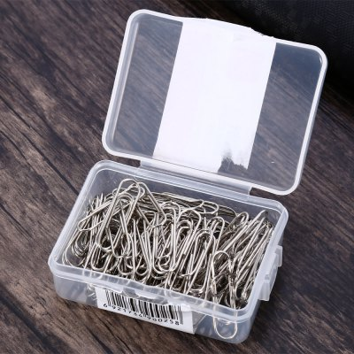 100PCS 29mm Electroplated Stainless Steel Bookmark PaperclipOther Supplies<br>100PCS 29mm Electroplated Stainless Steel Bookmark Paperclip<br><br>Color: Silver<br>Package Contents: 100 x 29mm Electroplated Stainless Steel Bookmark Paperclip, 1 x Plastic Box<br>Package size (L x W x H): 6.60 x 4.70 x 2.40 cm / 2.60 x 1.85 x 0.94 inches<br>Package weight: 0.070 kg<br>Product weight: 0.049 kg