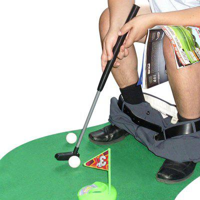 Mini Golf Set Toilet Golf Putting Stimulation Enlightenment Learning