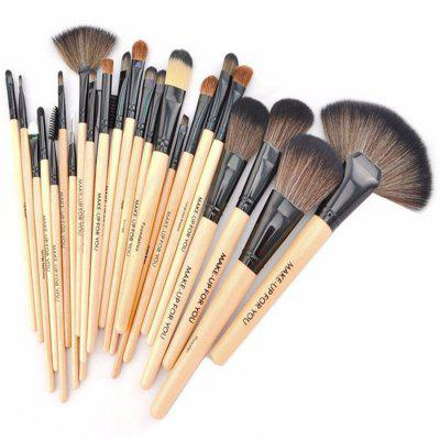 Portable 24Pcs Make-up Brush KitMakeup Brushes &amp; Tools<br>Portable 24Pcs Make-up Brush Kit<br><br>Features: Easy to Carry, Lightweight<br>Material: PU Leather, Wood<br>Package Contents: 24 x Make-up Brush, 1 x Bag<br>Package size (L x W x H): 35.00 x 28.00 x 8.00 cm / 13.78 x 11.02 x 3.15 inches<br>Package weight: 0.5400 kg<br>Product size (L x W x H): 24.00 x 15.50 x 5.00 cm / 9.45 x 6.1 x 1.97 inches<br>Product weight: 0.3800 kg