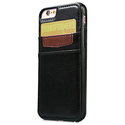 Wallet Card Slot Leather Back Case Skin for iPhone 6 / 6s