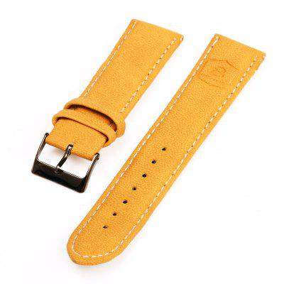 22mm Pin Buckle Leather Strap