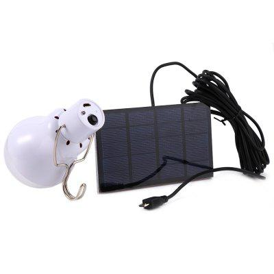 S-1200 130LM Portable Camping LED Light Solar Energy Bulb LampOutdoor Lights<br>S-1200 130LM Portable Camping LED Light Solar Energy Bulb Lamp<br><br>Available Light Color: Natural White<br>Bulb Base Type: Other<br>CCT/Wavelength: 5500-6500K<br>Features: Rechargeable, Low Power Consumption, Long Life Expectancy, Energy Saving<br>Function: Horticultural Illumination, Outdoor Lighting, Home Lighting, Commercial Lighting<br>Holder: Other<br>Lifespan: 5000hrs<br>Luminous Flux: 130LM<br>Package Contents: 1 x Chargeable Bulb, 1 x 0.8w/5v Solar Panel, 1 x 3.5Meter Connecting Line<br>Package size (L x W x H): 13.00 x 7.50 x 7.50 cm / 5.12 x 2.95 x 2.95 inches<br>Package weight: 0.2000 kg<br>Product weight: 0.1200 kg<br>Sheathing Material: Plastic<br>Total Emitters: 12<br>Type: Ball Bulbs<br>Voltage (V): DC 5V