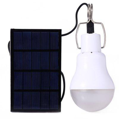Buy WHITE S-1200 130LM Portable Camping LED Light Solar Energy Bulb Lamp for $5.89 in GearBest store