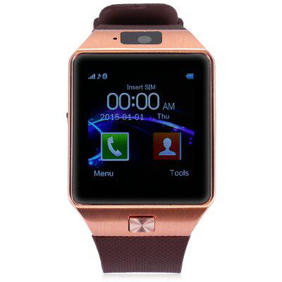 DZ09 Single SIM Smart Watch PhoneSmart Watch Phone<br>DZ09 Single SIM Smart Watch Phone<br><br>Battery: 1 x 380mAh<br>Bluetooth: Yes<br>Bluetooth Version: V3.0<br>Camera type: Single camera<br>Cell Phone: 1<br>CPU: MTK6261<br>English Manual: 1<br>External Memory: TF card up to 32GB (not included)<br>Frequency: GSM850/900/1800/1900MHz<br>Front camera: 0.08MP<br>Languages: Thai language, Vietnamese, Hindi, Malaysia language, Burmese, English<br>Network type: GSM<br>Package size: 11.00 x 11.00 x 9.00 cm / 4.33 x 4.33 x 3.54 inches<br>Package weight: 0.1400 kg<br>Product size: 4.35 x 4.00 x 0.98 cm / 1.71 x 1.57 x 0.39 inches<br>Product weight: 0.0510 kg<br>RAM: 32MB<br>ROM: 32MB<br>Screen resolution: 240 x 240<br>Screen size: 1.54 inch<br>SIM Card Slot: Single SIM(Micro SIM slot)<br>Speaker: Supported<br>TF card slot: Yes<br>Type: Watch Phone<br>USB Cable: 1<br>Wireless Connectivity: Bluetooth