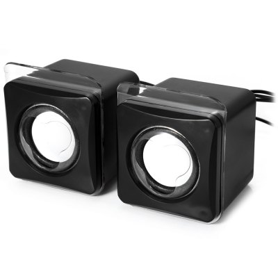 MK-G104 USB 2.0 Mini Passive SpeakerSpeakers<br>MK-G104 USB 2.0 Mini Passive Speaker<br><br>Audio Source: Electronic Products with 3.5mm Plug,Electronic Products with USB port<br>Color: Black<br>Compatible with: MP3, PC, MP4, Mobile phone, Laptop, iPod<br>Connection: Wired<br>Design: Portable, Mini<br>Interface: 3.5mm Audio, USB2.0<br>Model: MK-G104<br>Package Contents: 2 x Speaker<br>Package size (L x W x H): 16.00 x 8.50 x 8.60 cm / 6.30 x 3.35 x 3.39 inches<br>Package weight: 0.256 kg<br>Product size (L x W x H): 7.30 x 6.50 x 8.50 cm / 2.87 x 2.56 x 3.35 inches<br>Product weight: 0.194 kg<br>S/N: 65dB<br>Speaker Impedance: 4 ohm<br>Supports: Volume Control<br>Total Power: 5W