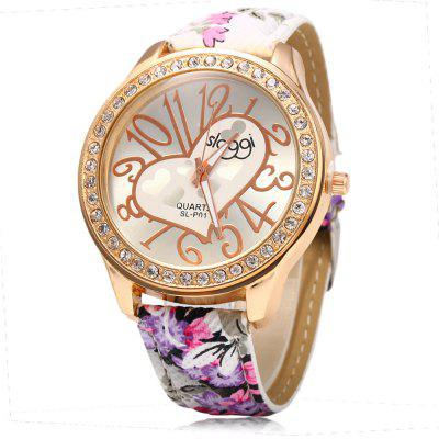 SLOGGI Women Rural Style Rhinestone Quartz Watch