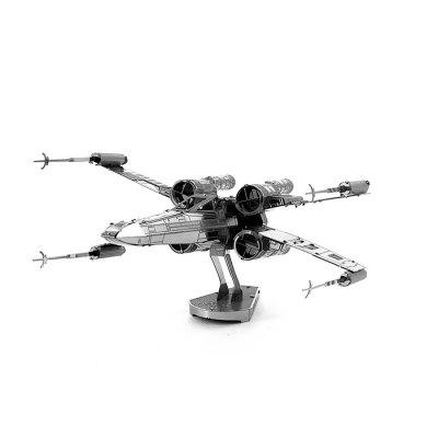 X-wing Warplane Metal 3D Puzzle - SILVER