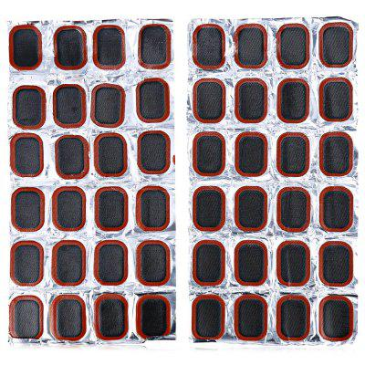 48Pcs 25mm Rubber Repair Tire Piece Suit for Bicycle MTB Motorcycle Inner Tube