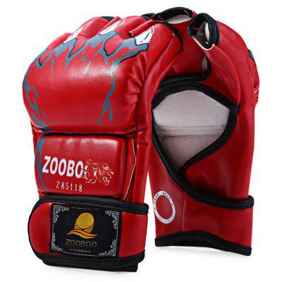 Zooboo 1 Pair PU Leather Half Finger Fighting Boxing Gloves for Sanda Sandbag with Cartoon Talons Image