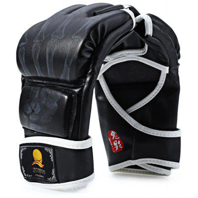 Zooboo 1 Pair PU Leather Half Finger MMA Fighting Boxing Gloves for Sanda Sandbag with Cartoon Talons Image
