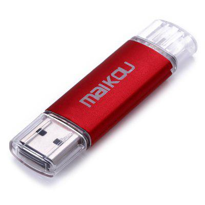 Maikou MK-760 2 in 1 8GB OTG USB 2.0 Flash DriveUSB Flash Drives<br>Maikou MK-760 2 in 1 8GB OTG USB 2.0 Flash Drive<br><br>Available Color: Black,Blue,Green,Orange,Purple,Red,Rose,Silver<br>Brand: Maikou<br>Capacity: 8G<br>Interface: USB 2.0<br>Package Contents: 1 x Maikou MK-760 2 in 1 8GB OTG USB 2.0 Flash Drive<br>Package size (L x W x H): 11.80 x 7.50 x 0.80 cm / 4.65 x 2.95 x 0.31 inches<br>Package weight: 0.031 kg<br>Product size (L x W x H): 6.80 x 1.80 x 0.50 cm / 2.68 x 0.71 x 0.20 inches<br>Product weight: 0.010 kg<br>Style: Stylish<br>Type: USB Stick