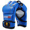 Zooboo 1 Pair PU Leather Half Finger MMA Fighting Boxing Gloves for Sanda Sandbag with Cartoon Talons Image - BLUE