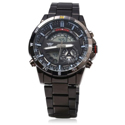 AMST AM3009 LED Stopwatch Day Date Quartz Male WatchMens Watches<br>AMST AM3009 LED Stopwatch Day Date Quartz Male Watch<br><br>Available Color: Black,Blue,Gold,White<br>Band material: Steel<br>Brand: AMST<br>Case material: Alloy<br>Display type: Analog-Digital<br>Movement type: Double-movtz<br>Package Contents: 1 x AMST AM3009 Male Watch<br>Package size (L x W x H): 12.50 x 5.50 x 3.00 cm / 4.92 x 2.17 x 1.18 inches<br>Package weight: 0.170 kg<br>Product size (L x W x H): 24.00 x 4.50 x 1.50 cm / 9.45 x 1.77 x 0.59 inches<br>Product weight: 0.140 kg<br>Shape of the dial: Round<br>Special features: Light, Stopwatch, Month, Day, Date<br>The band width: 2.0 cm / 0.79 inches<br>The dial diameter: 4.2 cm / 1.65 inches<br>The dial thickness: 1.5 cm / 0.59 inches<br>Watch style: Fashion<br>Watches categories: Male table