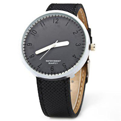 Simple Leather Band Wristwatch Quartz Ladies Watch