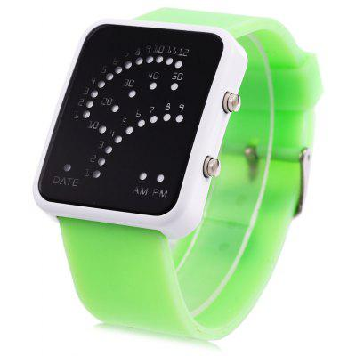 Date Display Fashion LED Sports Watch Rubber Strap