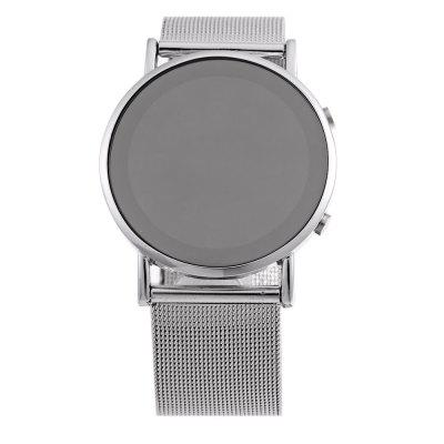 Date Day Display Round Dial LED Watch Steel Net BandLED Watches<br>Date Day Display Round Dial LED Watch Steel Net Band<br><br>Available Color: Silver<br>Band material: Stainless Steel<br>Clasp type: Pin buckle<br>Display type: LED lamp<br>Movement type: Digital watch<br>Package Contents: 1 x LED Watch<br>Package size (L x W x H): 24.20 x 5.00 x 1.90 cm / 9.53 x 1.97 x 0.75 inches<br>Package weight: 0.091 kg<br>People: Unisex table<br>Product size (L x W x H): 23.20 x 4.00 x 0.90 cm / 9.13 x 1.57 x 0.35 inches<br>Product weight: 0.061 kg<br>Shape of the dial: Round<br>The band width: 2.1 cm / 0.83 inches<br>The dial diameter: 3.7 cm / 1.46 inches<br>The dial thickness: 0.9 cm / 0.35 inches<br>Watch style: LED, Fashion&amp;Casual<br>Wearable length: 16.5 - 21 cm / 6.50 - 8.27 inches