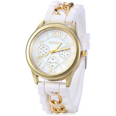Women Roman Numerals Silicone Quartz Watch