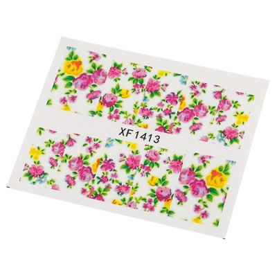 10pcs Water Transfer Nail Wraps Temporary Tattoos Watermark Nail Sticker Tools