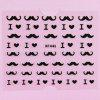 10pcs Stylish Ladies Women 3D Art Stickers Nail Stick Manicure Water Decal - PRETO