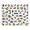 10pcs Fashion 3D DIY Butterfly Nail Art Shinning Stickers - COLORMIX