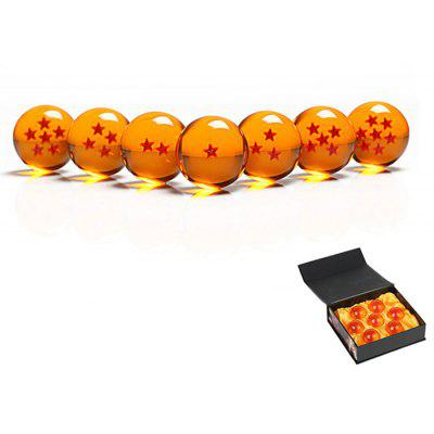 Jingyi Crystal 4cm Dragon Ball 7Pcs / Set