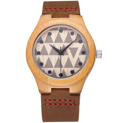 JIANGYUYAN 3772 Bamboo Dial Geometric Female Quartz WatchWomens Watches<br>JIANGYUYAN 3772 Bamboo Dial Geometric Female Quartz Watch<br><br>Available Color: Coffee<br>Band material: Genuine Leather<br>Brand: JIANGYUYAN<br>Case material: Bamboo<br>Clasp type: Pin buckle<br>Display type: Analog<br>Movement type: Quartz watch<br>Package Contents: 1 x Female Watch<br>Package size (L x W x H): 25.60 x 4.88 x 2.16 cm / 10.08 x 1.92 x 0.85 inches<br>Package weight: 0.053 kg<br>Product size (L x W x H): 24.60 x 3.88 x 1.16 cm / 9.69 x 1.53 x 0.46 inches<br>Product weight: 0.023 kg<br>Shape of the dial: Round<br>The band width: 1.97 cm / 0.78 inches<br>The dial diameter: 3.86 cm / 1.52 inches<br>The dial thickness: 1.16 cm / 0.46 inches<br>Watches categories: Female table<br>Wearable length: 22.00 cm / 8.66 inches