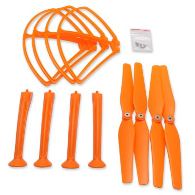 Spare Landing Skid + Protection Ring / Propeller Set Fitting for Syma X8C X8HC X8HW X8HG Quadcopter