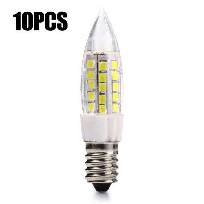 10PCS E14 7W SMD 2835 480Lm LED Candle Bulb
