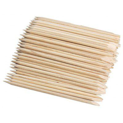 100pcs Nail Art Orange Wood Stick Cuticle Pusher Remover for Manicures