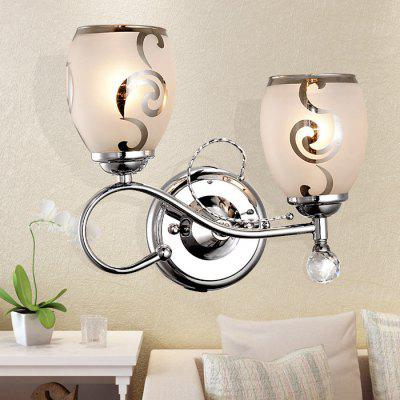 5W 400Lm Double Stem Glass LED Wall Light