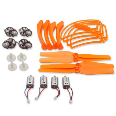 Spare Motor + Propeller + Gear + Motor Base / Protection Ring Set Fitting for Syma X8C Quadcopter