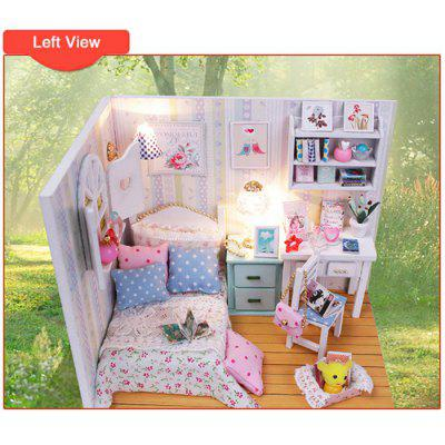 HONGDA M013 DIY Handmade Assembled Sunshine Theme House Model Kid Bedroom