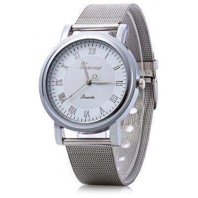 Geneva Women Quartz Watch Stainless Steel Wristwatch