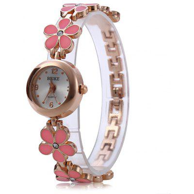 Women Quartz Watch Pentalobe Crystal Stainless Steel Band