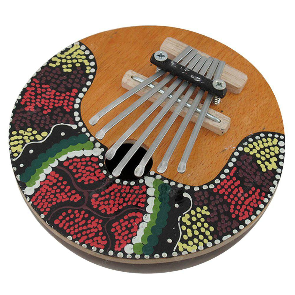 7 Key Thumb Piano Coconut Mbira Instrument Gift For Kids