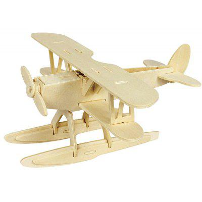 Robotime Seaplane 3D Jigsaw Puzzle Woodcraft Assemble Toy Educational Game Kids Gift