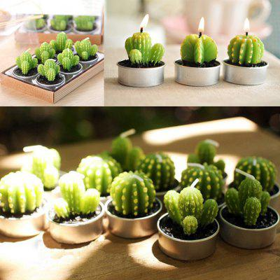 6PCS Simulation Succulent Plants Shape Candles