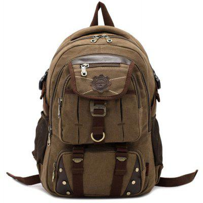 Buy DARK KHAKI KAUKKO 13.5L Student Backpack with U Flash Disk Pouch for $20.38 in GearBest store