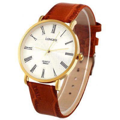 Longbo 8860D Male Leather Strap Quartz Watch