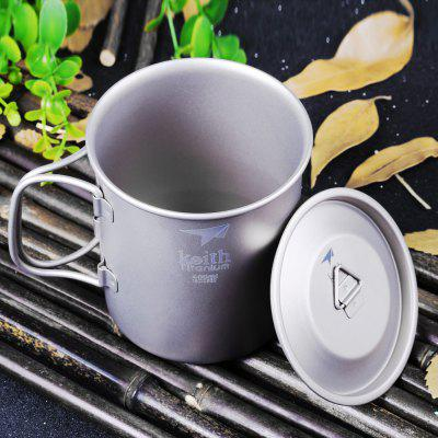 Keith Ti3203 400mL Titanium Cup with Cover 170713101