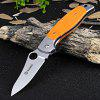 Ganzo G7372-OR Frame Lock Pocket Folding Blade Knife with G10 Handle - ORANGE